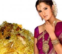 Saniya Mirza With Biryani