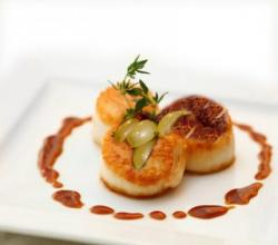 Scallops With Grapes