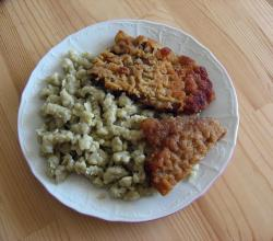 Schnitzel with potato dumplings
