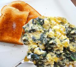 Scrambled Spinach Eggs