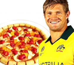 Shane Watson with Pepperoni Pizza