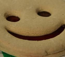 shortbread cookie with a smile
