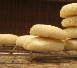 Shortbread cookies stacked