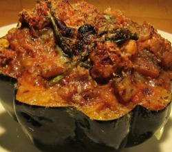 Shrimp Stuffed Acorn Squash