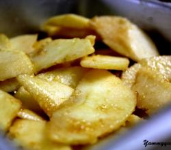 Sliced Buttered Apples With Sugar