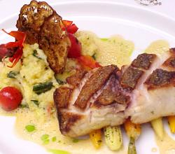 Snapper With Sundried Tomato Polenta  Spiced