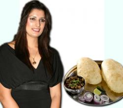 Sonika Kaliraman With Chhole Bhature