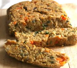 Soy Sunflower Lentil Loaf