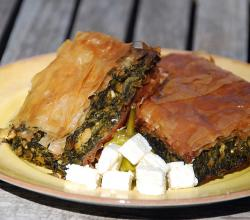 Spanakopita Greek dish