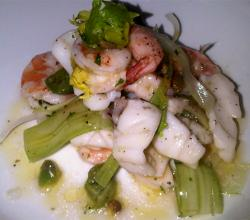 Squid and Scallop Salad