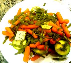 Platter of Steamed Baby Vegetables