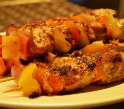 Sweet And Sour Fish Kebabs