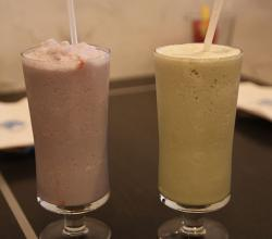 Taro and Green Tea Milkshakes