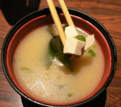 Tofu in miso soup