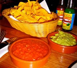 Tortilla Chips With Homemade Salsa And Guacamole