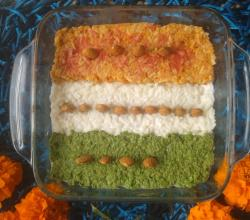 Tri-colored Carrot Rice Pudding