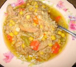 Turkey Soup Stew With Rice