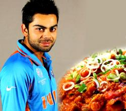 Virat Kohli with Chilli Chicken
