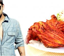 Virat Kohli With Tandoori Chicken