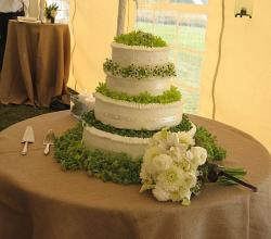 Wedding cake white and green