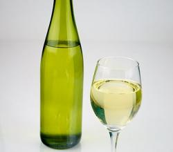 White Wine shot with a bottle of white wine