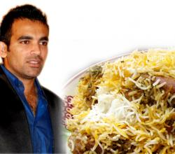 Zaheer Khan With Mutton Biryani