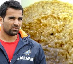 Zaheer Khan with Porridge