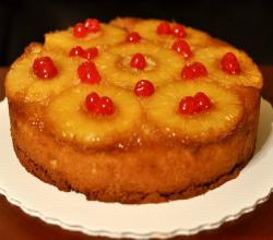 Pineapple Upside Down Cake In Microwave