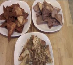 Pita Chips 3 Different Ways!!!! Pita Chips by DedeMed!!!