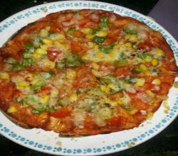 Vegetable Pizza With Desi Tadka