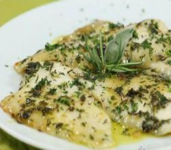 Plaice Fillets with Honey and Aromatic Herbs - Quick