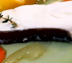 Poached Halibut with Beet Vinaigrette