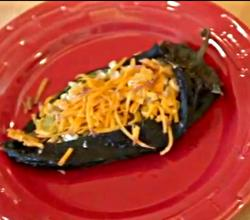 Roasted Corn Stuffed Poblanos