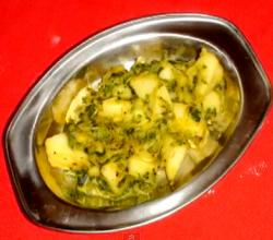 Potato & Fenugreek Leaves Stir Fry