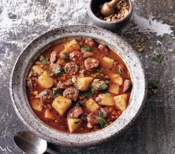 Spanish Potato, Garlic & Chorizo Soup