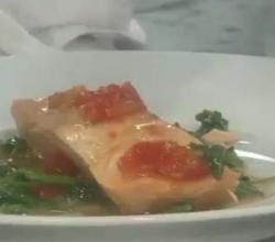 Herbed Salmon with Spinach