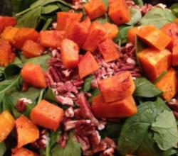 Pumpkin and Goat Cheese Salad