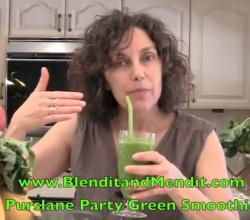 Purslane and Mango Anti Aging Smoothie