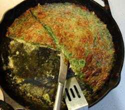 Cheese And Spinach Crustless Quiche