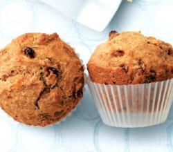 Raisin Applesauce Bran Muffins
