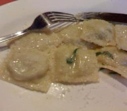 Ravioli with Nutty Cream Sauce