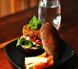 I'm Back! Raw Veggie Burger and New Book