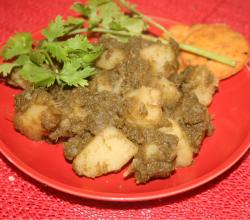 Heathly Dhania Aloo Chaat