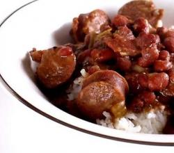 Hot Sausage and Bean Stew