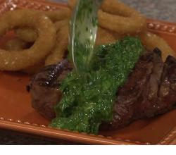 Rib Shack Red Filet Steak with Chimichurri Sauce