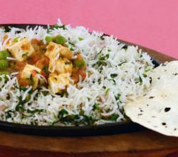 Rice and Curry Sizzler by Tarla Dalal