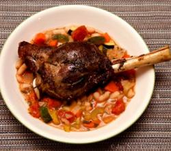Rice Stuffed Lamb Shanks