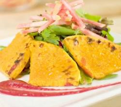 Butternut Squash Roast Salad with Cranberry Vinaigrette