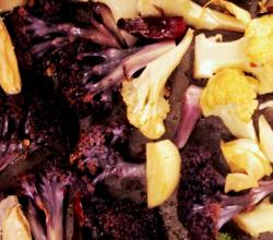 Roasted Purple and Orange Cauliflower