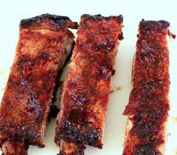 Roasted Spareribs In Garlic And Hoisin Sauce Marinade